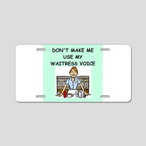 waitress Aluminum License Plate