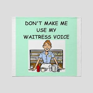 waitress Throw Blanket