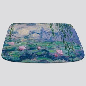 Water Lilies Claude Monet Fine Art Bathmat