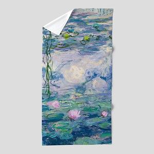 Water Lilies Claude Monet Fine Art Beach Towel