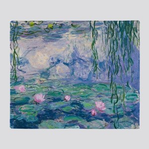 Water Lilies Claude Monet Fine Art Throw Blanket