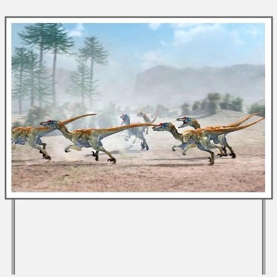 Velociraptor dinosaurs - Yard Sign