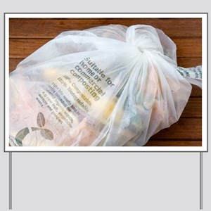Biodegradable plastic bag - Yard Sign