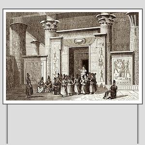 Pythagoras and Egyptian priests - Yard Sign