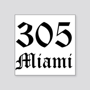 305 Miami 6 Rectangle Sticker