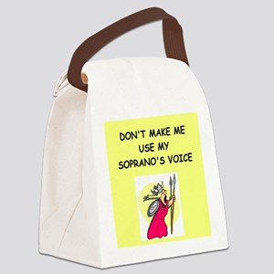 soprano, Canvas Lunch Bag