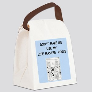 duplicate bridge Canvas Lunch Bag