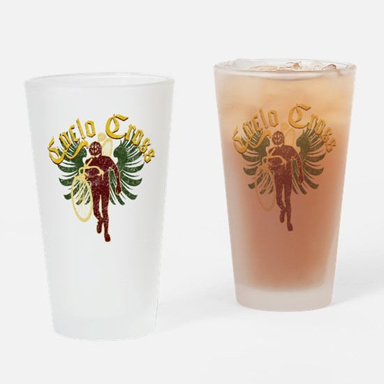 Cyclocross Soldier Drinking Glass