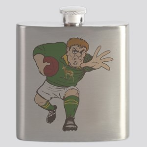 Springboks Rugby Player Flask