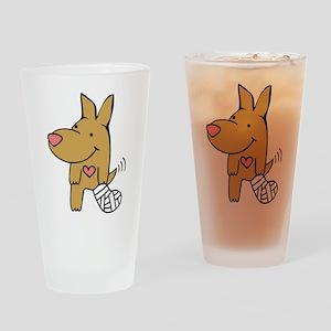 Broken Leg - Wagging Tail Drinking Glass