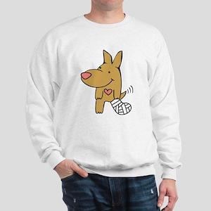 Broken Leg - Wagging Tail Sweatshirt