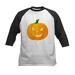 Scary Jack o'Lantern 2 Sided Kids Baseball Jersey