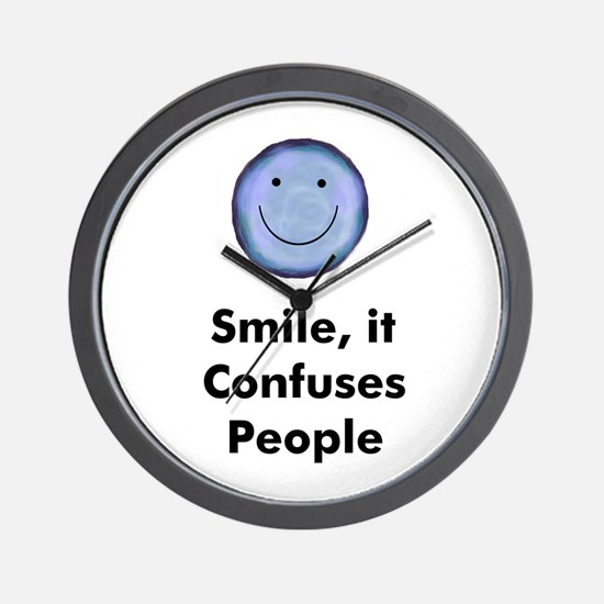 Smile, it Confuses People Wall Clock