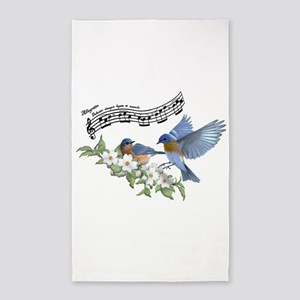 Bluebird Skies Notes Area Rug