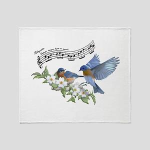 Bluebird Skies Notes Throw Blanket