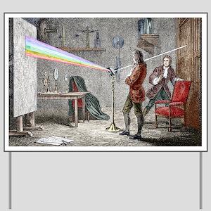 Newton's optics - Yard Sign