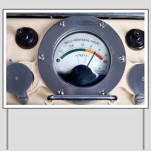 Military radiation meter - Yard Sign