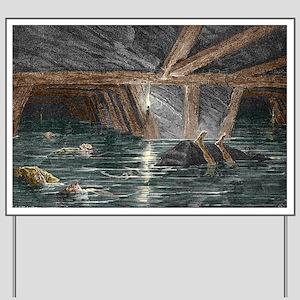 Mining disaster, 19th century - Yard Sign