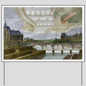 Mirage over Paris, 1869 - Yard Sign