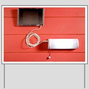 Solar powered lamp - Yard Sign