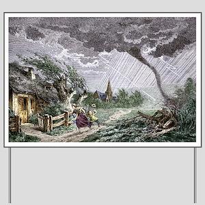 Tornado, historical artwork - Yard Sign