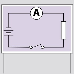 Measuring electric current - Yard Sign