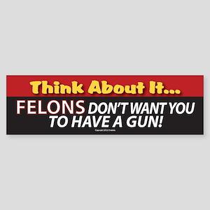 Pro Gun Ownership Sticker Bumper Sticker