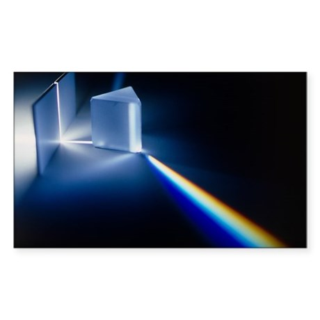 Light passing through prism - Sticker (Rectangle) by ...