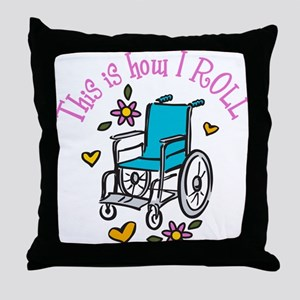 How I Roll Throw Pillow