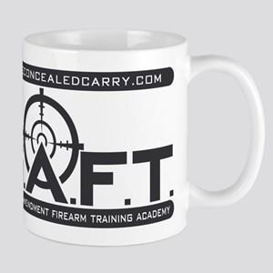 SAFT Black Logo with Web Address Mugs