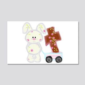 Bunny with a cross Wall Decal