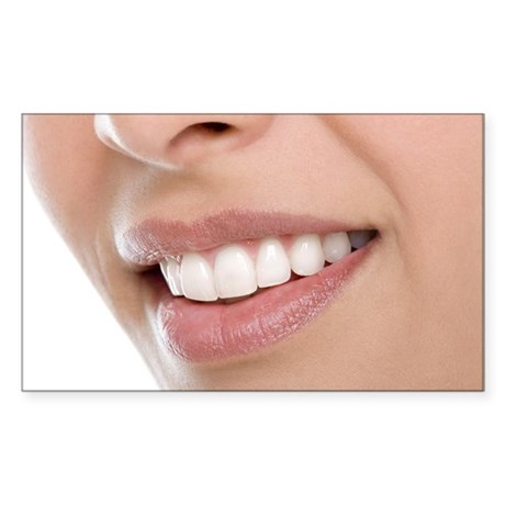 Woman's mouth - Sticker (Rectangle)