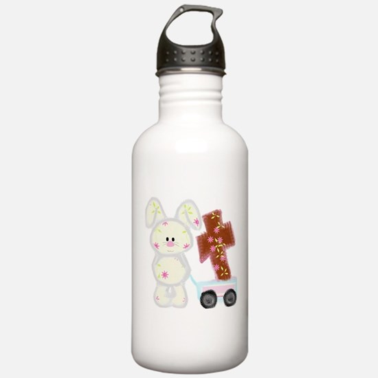 Bunny with a cross Water Bottle