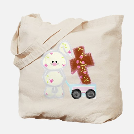 Bunny with a cross Tote Bag
