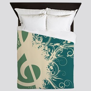 Graphic Treble Clef Queen Duvet