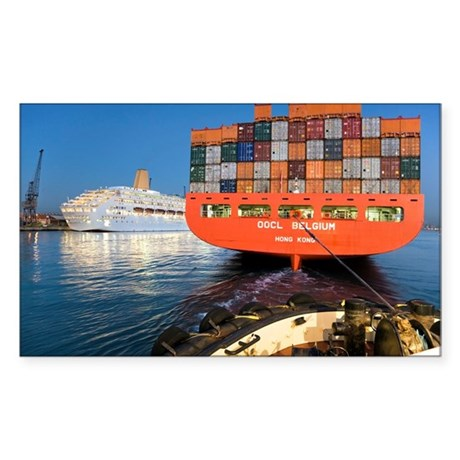 Container ship - Sticker (Rectangle)