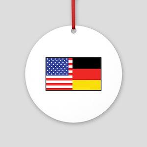 USA/Germany Ornament (Round)