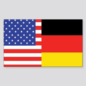 USA/Germany Rectangle Sticker