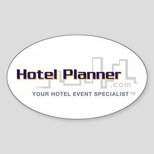 Hotel Planner Oval Sticker