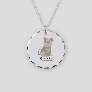 Quokka v.2 Necklace Circle Charm