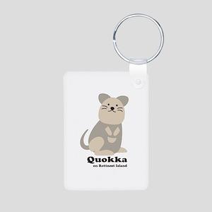 Quokka v.2 Aluminum Photo Keychain