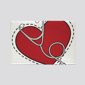 Heart Doctor Rectangle Magnet