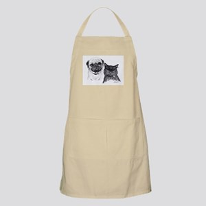 Pug and Cat Apron