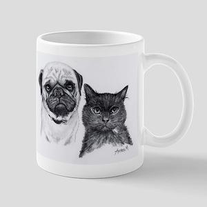 Pug and Cat Mug