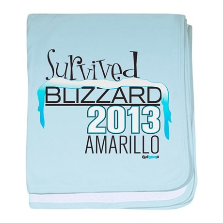 Survived Blizzard 2013 Amarillo baby blanket