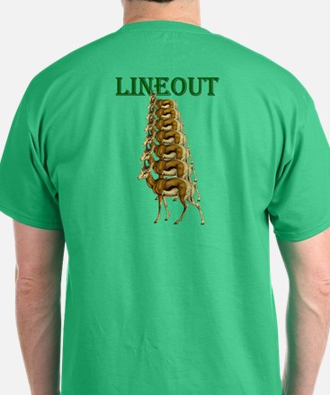 Springbok Rugby Lineout T-Shirt