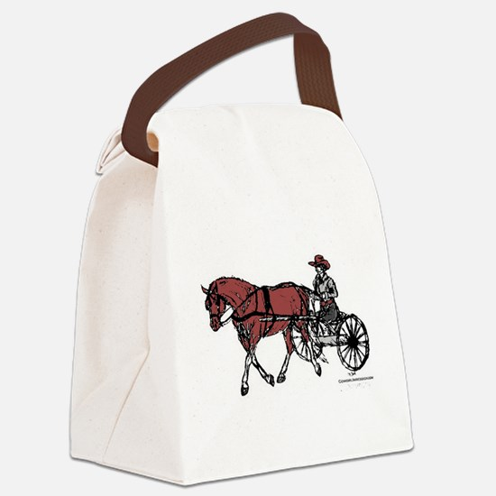 Harness Horse Canvas Lunch Bag