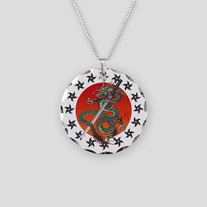 Dragon katana 2 Necklace Circle Charm