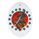 Dragon katana 2 Ornament (Oval)