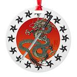 Dragon katana 2 Round Ornament